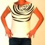Tee shirt original sérigraphié motif zébré turquoise