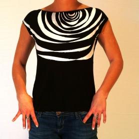 Tee shirt original sérigraphié motif zébré noir