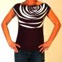 Tee shirt original sérigraphié motif zébré blanc