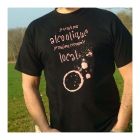 Tee shirt Alcoolique local Tee Time