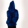 Veste Coton doublée polaire Népal Bleue dos capuche