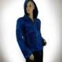 Veste Coton doublée polaire Népal Bleue