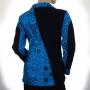 Veste coton brodée Bleue dos