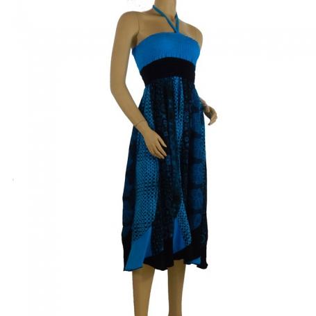 Robe jupe 2 en 1 Bleu