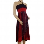 Robe jupe 2 en 1 Noir et rouge