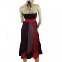 Robe jupe 2 en 1 Noir et rouge jupe dos