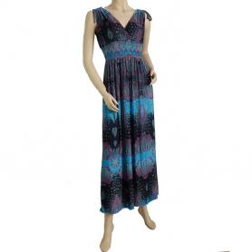 Robe longue fluide bleue