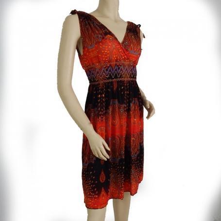 Robe courte fluide noire et rouge 3.4