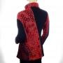 Veste coton brodée Rouge dos