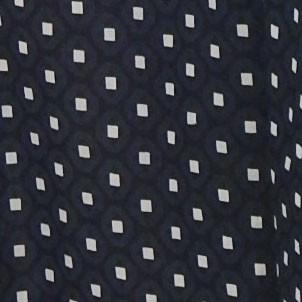 Imprime noir et blanc geometrique